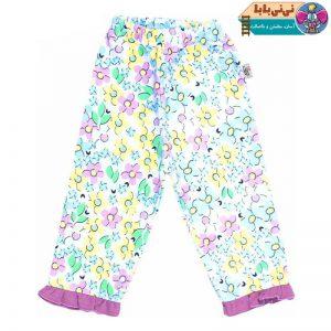 3830 300x300 - شلوار نوزاد آدمک طرح گلهای رنگارنگ کد 01