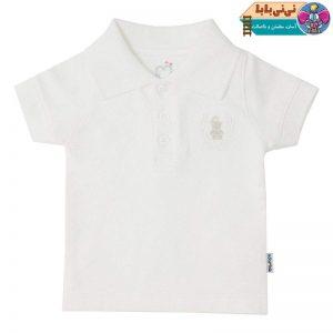 3900 300x300 - پولوشرت نوزادی پسرانه آدمک مدل 148701 رنگ سفید