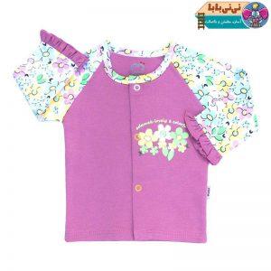 3902 300x300 - تونیک نوزادی آدمک طرح گلهای رنگارنگ