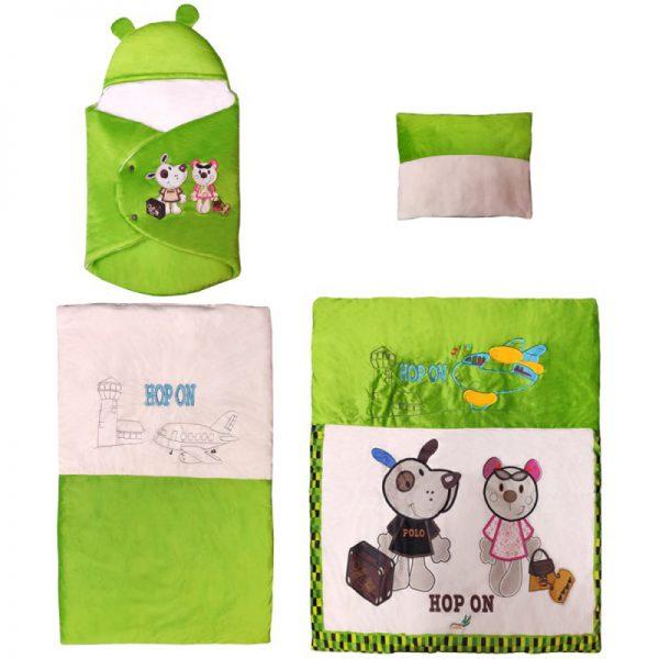 سرویس خواب 4تکه نوزاد رنگ سبز