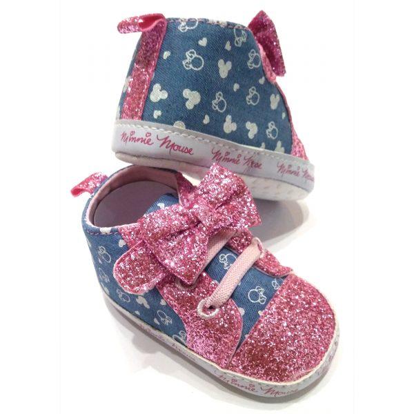 پاپوش نوزادی دخترانه طرح Minnie Mouse کد M179             |ویژه